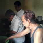 Hiralal and son Dipak busy preparing fries