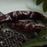 Dry Chili, Black mustard seeds, Curry Leaves