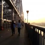 The iconic Howrah bridge with the fibreglass encased pillars