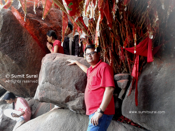 In front of Hanuman rock
