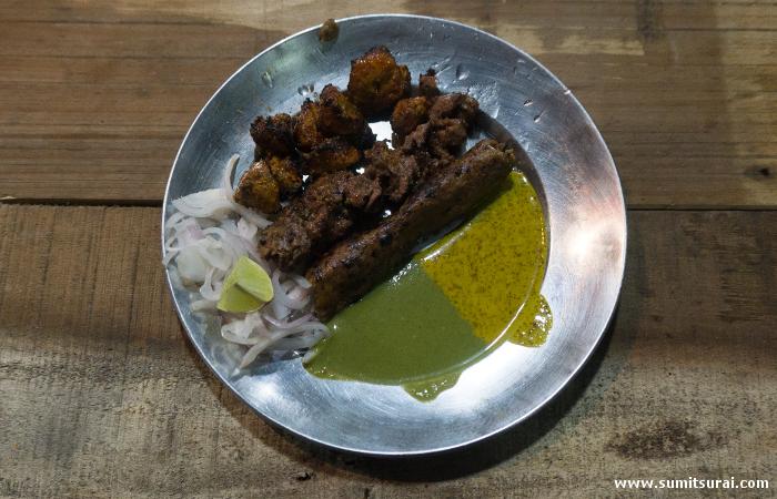 Kheeri, Dahi and Malai kebabs at Dilshad Ahmeds stall