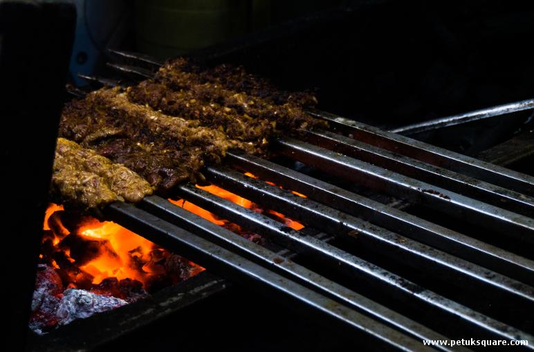 Suta Kebabs being grilled at Adams