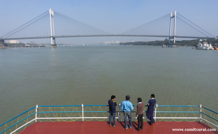 Vidyasagar Setu from the deck
