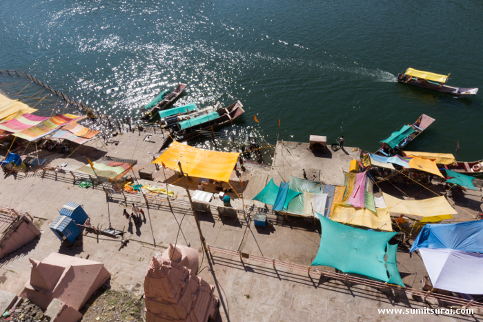 The ghats of Omkareshwar